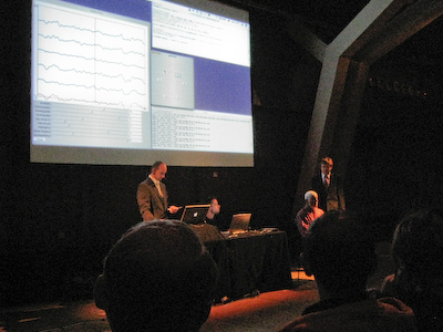 Photo of the live sonification event