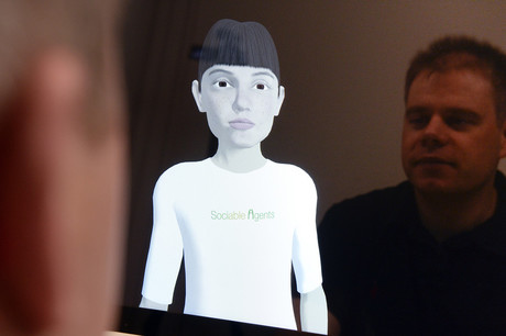 Another topic of the conference includes virtual characters such as the avatar Billie, which was developed at CITEC. Avatars can be used to help better understand human social behavior. Photo: CITEC/Bielefeld University