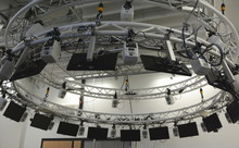 The Audioring in the CITEC Building is made up of 24 speakers with a diameter of four meters.