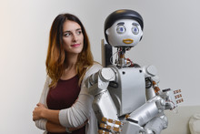 Woman with Robot